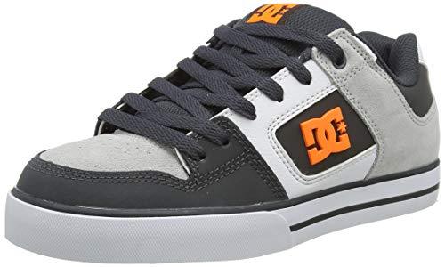 DC Shoes Pure, Zapatillas Hombre, Gris (Dark Grey/Orange Go0), 42 EU