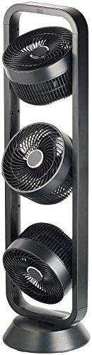 Carlo Milano Ventilator mit 3 Rotoren: Standventilator mit 3 Rotoren, 3 Stufen, Oszillation, Timer, 105 Watt (Ventilationsturm)