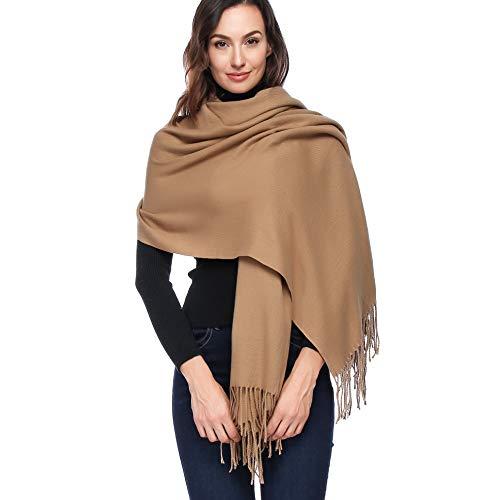 HOYAYO Damen Wolle Large Wrap Schal - Schal Stola für Frauen Schultertuch Eleganter Schal (Mehrfarbig)