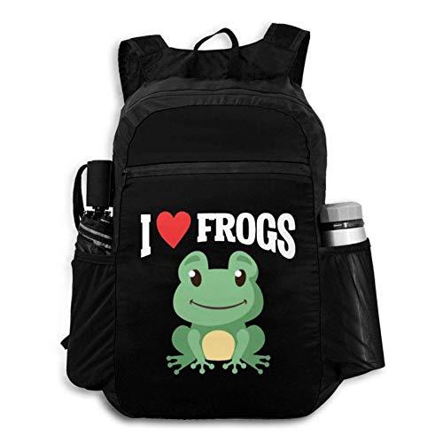 Suyu Stephanie Frog Lover Kid Funny Animal Child Frog Catcher Backpack Foldable Backpack Portable Storage Bag Hiking Bag Hiking Leisure Bag