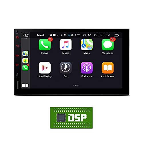 KAUTO 7'Android 10 Estéreo para automóvil Doble 2 DIN Unidad Principal Navegación GPS CarAutoPlay Incorporado Soporte automático de Android WiFi 4G Bluetooth 5.0 Cámara de Respaldo TPMS Universal