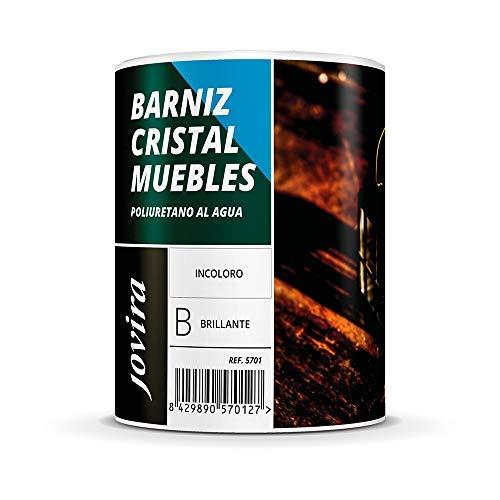 BARNIZ CRISTAL MUEBLES POLIURETANO AL AGUA BRILLANTE (750 ml)
