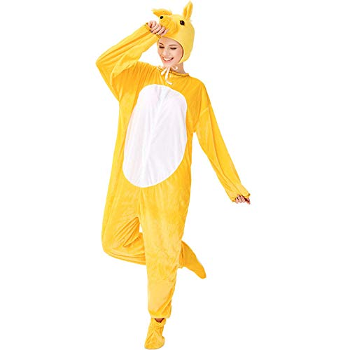 Disfraz de Halloween para Adultos de Dibujos Animados espectáculo de Animales Tigre Gran Lobo Gris Oso Pijama de Manga Larga de una Pieza Estilo