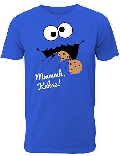 Lustiges Keks Monster T-Shirt Mmmmh Kekse! für Männer/Herren T-Shirt