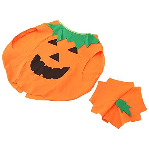 WINOMO Baby Mädchen Jungen Halloween Kostüme Ärmel Laterne Gesicht Kürbis Strampler Body Hemd Halloween Outfits mit Beanie Hut