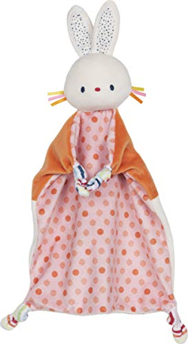 """Baby GUND Bunny Lovey Plush Stuffed Animal and Security Blanket, 13"""""""