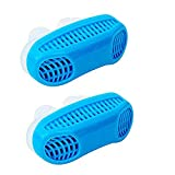 Anti Snore Snoring Devices Aids, 2 Pack 2 in 1 Anti Snore Nose Purifier Snore Stopper Nose Vents Solution Blocker Preventer Relief for Women Men to Stop Snoring Noise Silent Night Sleep (Blue+Blue)
