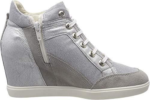 Geox Damen D Eleni C Hohe Sneaker, Grau (Lt Grey/Silver), 40 EU