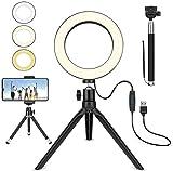 XXT Llenar Anillo LED luz de Relleno en Vivo Luz 16cm 6 Pulgadas de vídeo de Disparo del Flash Selfie