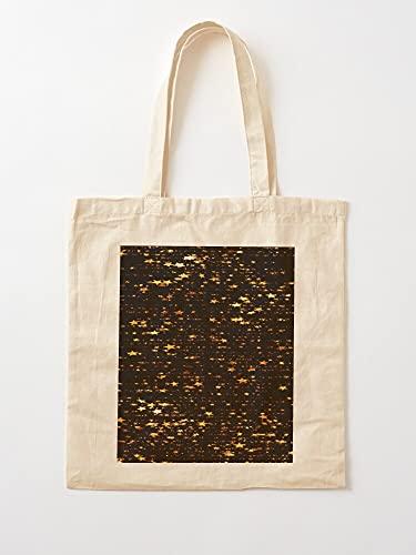 Night Gold Gliters Dazzling Nightspiegel, Blink Stars Twinkle | Einkaufstaschen aus Segeltuch mit Griffen, Einkaufstaschen aus robuster Baumwolle