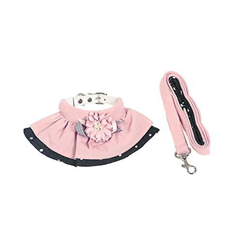 Dog Traction Anzug Teddy Spitz Hundeleine Hundehalsband Cat Leine Dog Rope Leine (Color : Pink)