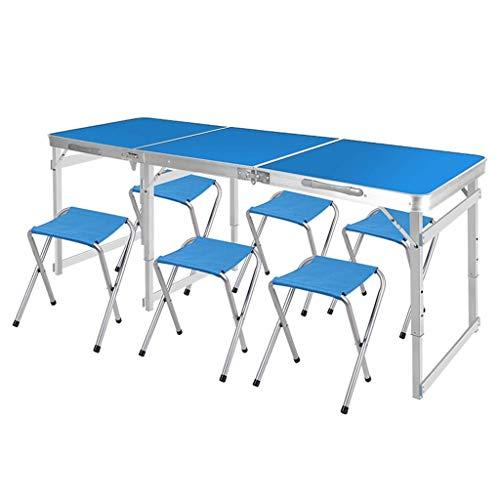 Household Necessities/tafel en klaptafel draagbaar klapstoel combinatie van tuinstoel en aluminiumlegering Wit