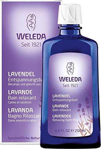 WELEDA Lavendel Entspannungsbad, Naturkosmetik Gesundheitsbad mit echtem Lavendelöl zur Beruhigung der Sinne und für guten Schlaf (1 x 200 ml)
