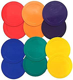 Coast Athletic Rainbow Poly Spot Markers - 12 Pack