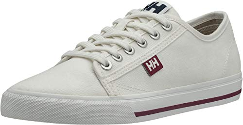 Helly Hansen W Fjord Canvas V2, Zapatillas Mujer, Blanco (Off White/Beet Red/Navy 011), 37 EU