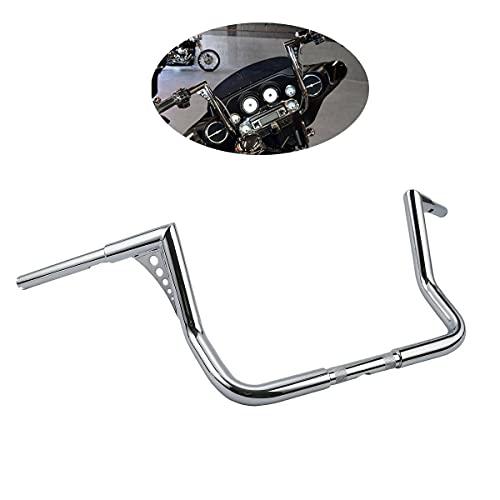 TCMT Chrome 12' Rise Ape Hanger 1.25' Handlebar Fits For Harley Electra Glide FLHT FLHTC