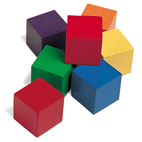 Learning Resources 1' Wooden Colour Cubes (Set of 102)