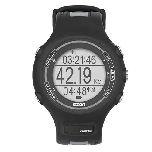 EZON Mannen Digitale Sport Horloges GPS Running Smart Horloge met Pols gebaseerde Optical Heart Rate Monitor, Stappenteller, Stopwatch, Bluetooth, 5ATM Waterdicht