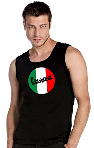 mmshop18 Vespa Scooter Fun Negroe Camisetas de Tirantes T-Shirt Top Tank - 2558 -SW