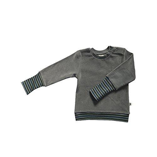 Leela Cotton Baby/Kinder Nicky Sweat-Shirt Bio-Baumwolle, Hellgrau, Gr. 62/68
