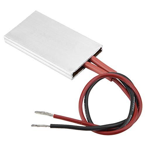 Isolierung PTC-Heizplatte, sicher und hochzuverlässig, 50 × 28,5 mm Aluminiumgehäuse PTC-Heizelement Thermostatische Heizplatte(24V 120℃)