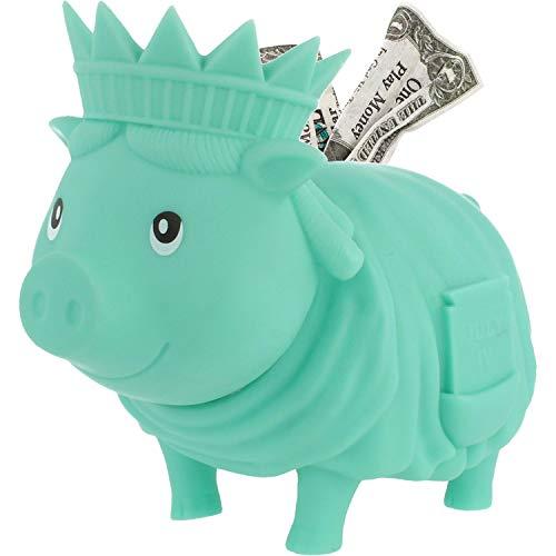 LILALU Spardose BIGGYS Freedom, Sparschwein Kopf drehbar Sparbox Sparbüchse Münzeinwurf Piggy Bank Tresor Kinder
