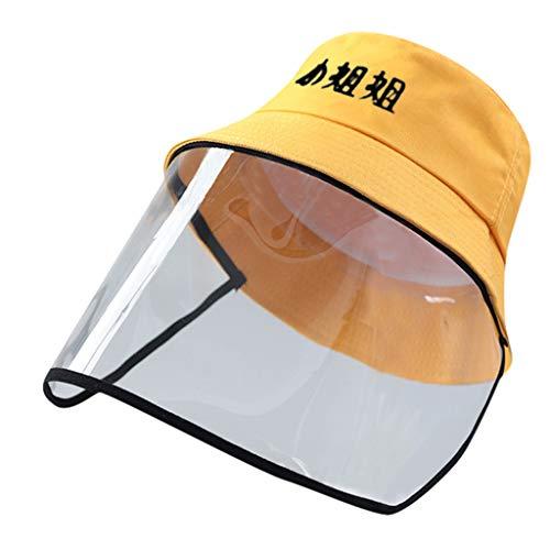 FEYTUO Sombrero Protector Anti-escupir, Cubierta a Prueba De Polvo Sombrero con Gorra De Visera Ligero, Anti-Polvo Anti-UV Adjustable