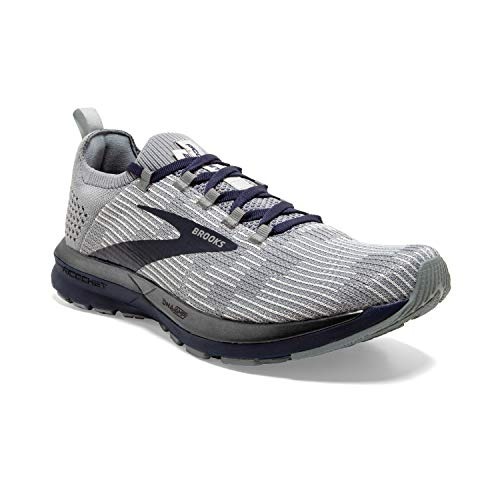 Brooks Mens Ricochet 2 Running Shoe - Grey/Navy - D - 11.5 thumbnail
