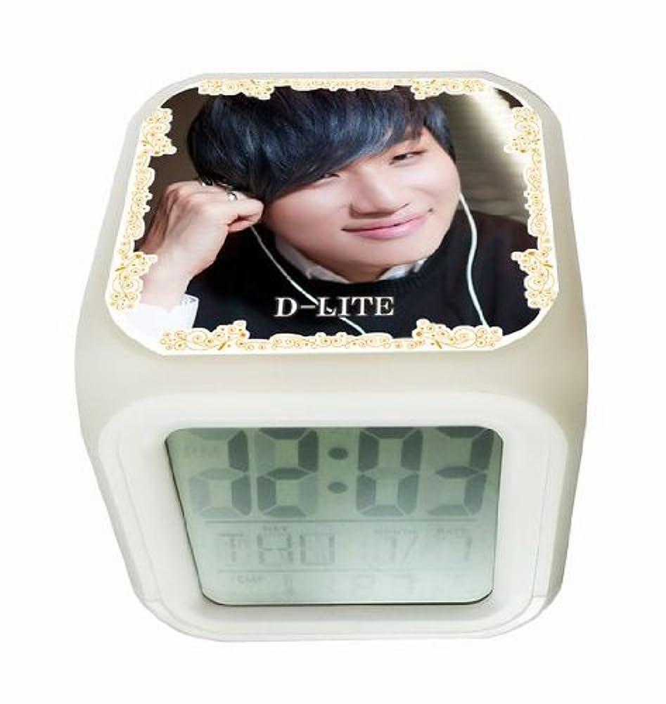 取り壊す密接に検出BIGBANG D-LITE テソン 光る時計 置き時計 デジタル時計 目ざまし時計 1