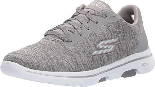 Skechers Women's GO Walk 5-True Sneaker, Gray, 7 M US