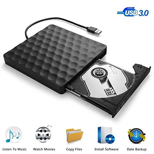 Externes CD DVD Laufwerk, USB 3.0 Superspeed Tragbare CD DVD Brenner Extern Writer Reader Player für Apple MacBook Pro iMac Windows 7/8/10 Linux Laptops