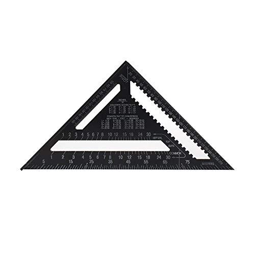 Dreieckslineal Winkelmesser Lineal für die Holzbearbeitung Rahmung Mess schwarz 12 Zoll