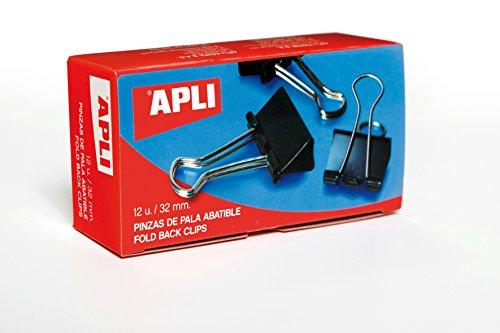 APLI 11950 - Pinza pala abatible Negro 32 mm - 120 hojas 12 u.