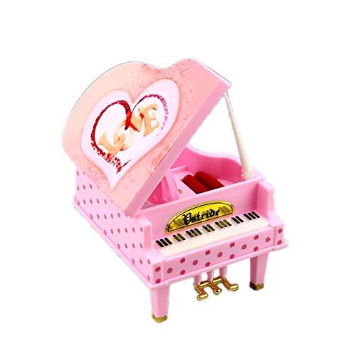 ZhongYi Retro spin meisje piano octaaf Sieraden doos