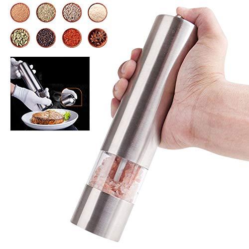 Elektrische peper- en zoutmolen Grinder Zout- en pepermolen Verstelbare maalplaten Accu-aangedreven pepermolens