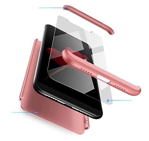 AKC Funda Compatible Samsung Galaxy S10 Plus Anti-Scratch,con 2 *Vidrio Templado Carcasa Prueba de Golpes Case,Hard Caja Cover-Oro Rosa