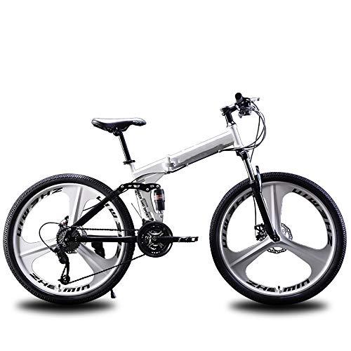 Berg Faltrad, 26-Zoll-Variabler Geschwindigkeit Doppelstoßdämpfung, Aluminium-Magnesium-Legierung für die 27-Gang-Rennrad
