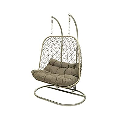 Double egg hanging chair