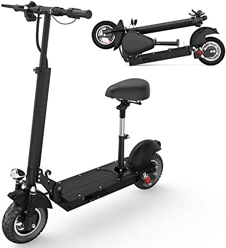 HAPICHIL Electric Scooter, Foldable Electric Scooter Adults with Removable Seat, Max Speed 25 MPH & 19 Miles Long Range, Portable UL Certified Commuting Scooter 500W Motor Dual Braking System