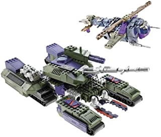 Transformers Armada BTR Built to Rule Megatron with Leader 1 Mini-Con & Cyclonus with Crumplezone Mini-Con, 161 Piece Set, Builds 2 Robots/Vehicles, 7058, Compatible with other Leading Building Systems