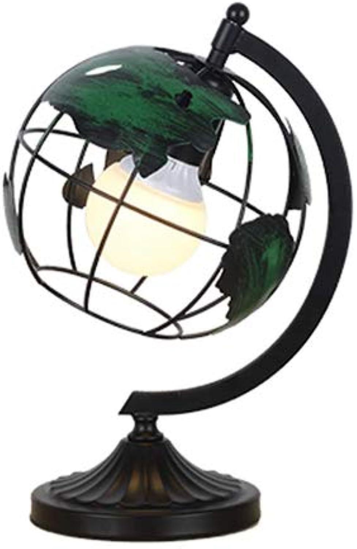Rishx Kreative Schmiedeeisen-Kugel-Grünikale Tischleuchte E27 hohle Metalllesung Stehende Schreibtischlampe Schlafzimmer Nachttischstudie Tischleuchte (Gre   Table lamp)