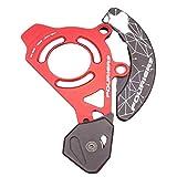 SXCXYG Guia Cadenas Bicicleta MTB Cadena BTT Guía de la Cadena Doble Disco del Sistema con Bash Guardia Bicicletas Guía for 2X Sistema Platos GuíA De Cadena (Color : Red Black)