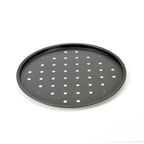 Kaiser 2300647678 Moule à Pizza Delicious Thermo-perforée Ø32cm, Acier, Noir, 28 x 28 x 18 cm