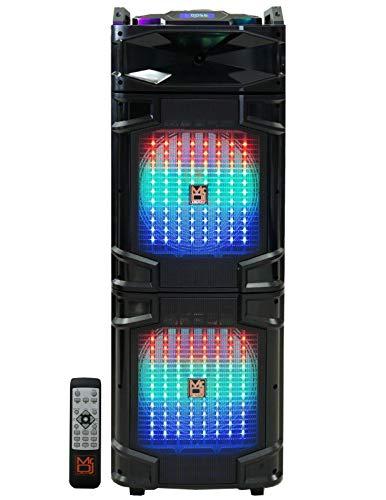 "Mr. Dj Atlantic Dual 12"" 4500 Watts P.M.P.O Speaker with Built-in Bluetooth"