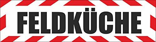 INDIGOS UG - Magnetschild Feldküche mit Rahmen 45 x 12 cm - Magnetfolie für Auto/LKW/Truck/Baustelle/Firma