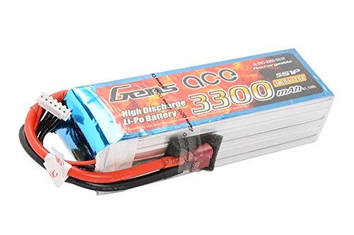 Gène Ace 3300 mAh 18,5 V 25 C 5s1p Lipo Batterie avec Deans T Prise pour modélisme RC Car Heli Bâche Boat Truck FPV Voiture hélicoptère Avion comme Align Jet, ESKY, Walkera, e-flite, Dragan Flyer