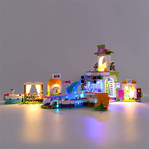 RTMX&kk Conjunto de Luces para Piscina de Verano Friends Heartlake Modelo de Construcción de Bloques, Kit de Luces Compatible con Lego 41313 (Modelo Lego no Incluido)