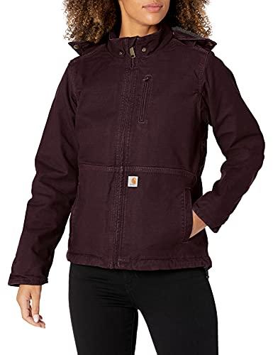 Carhartt Women's Full Swing Caldwell Jacket (Regular and Plus Sizes), deep Wine/Shadow, Medium