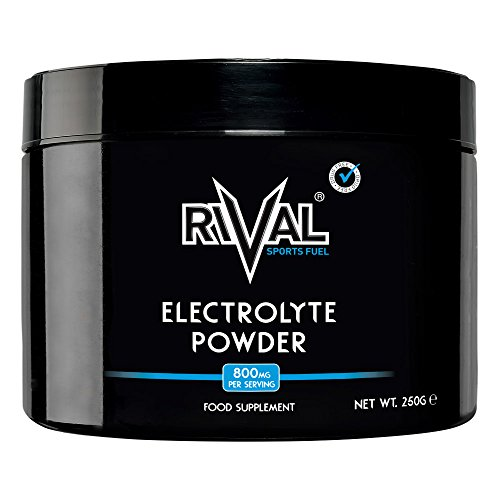 Rival Sports Fuel Electrolyte Powder 250g Unflavoured Sugar Free, Vegan, Keto Friendly - 312 Servings per tub Made in The UK