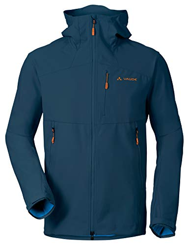 VAUDE Herren Jacke Men's Roccia Softshell Hoody, Softshelle, baltic sea, 50, 400793345300